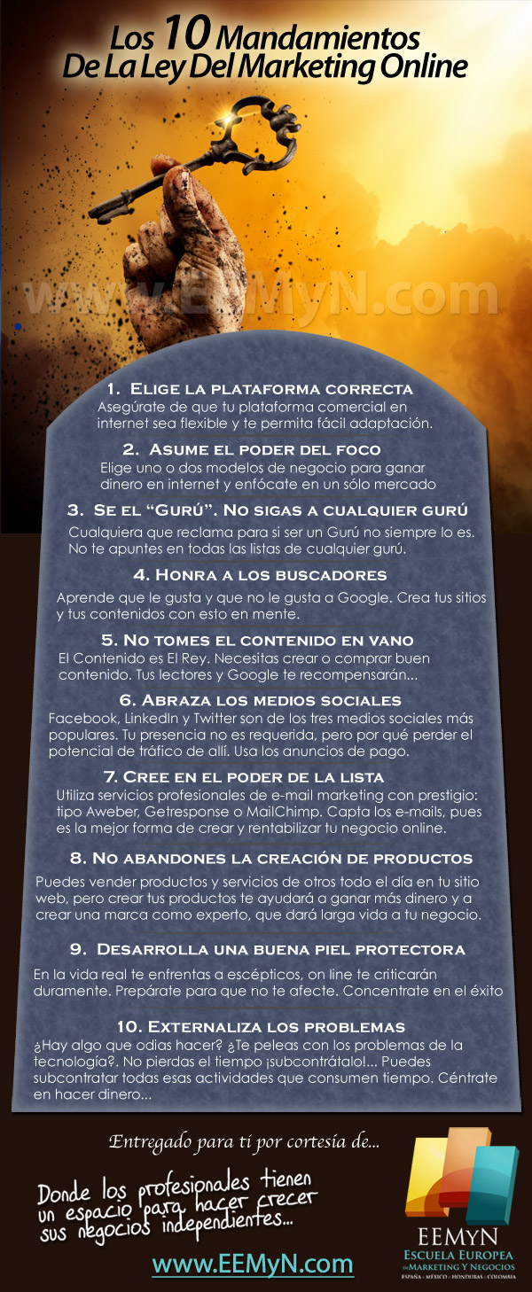 Los 10 Mandamientos De La Ley Del Marketing Online
